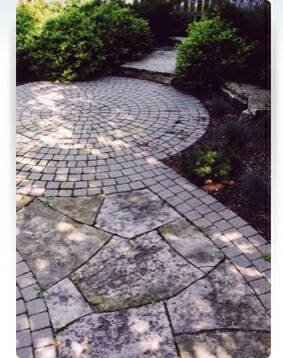 Radial Cobblestone Patio Extension, Fire Ring And Seat Wall